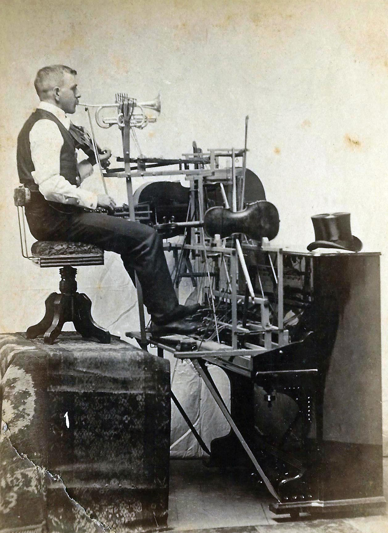 One man band old mystery photo for Odd victorian names