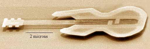 La nano-chitarra e la nano-radio: quando la tecnologia si fa microscopica